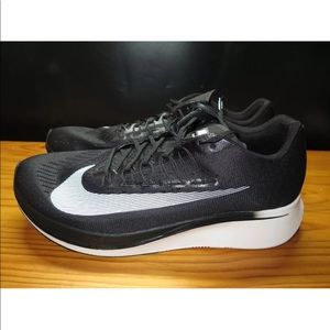 Nike Zoom Fly Running Shoes Men's Black  Size 14